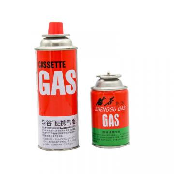 Refined Portable Butane gas refill canister and universal butane gas bottle