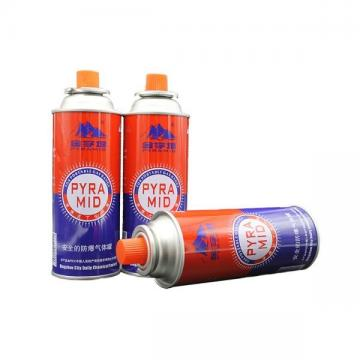 Eco-friendly Fuel Energy Empty Tinplate Safety Powerful Butane Gas Canister 220G