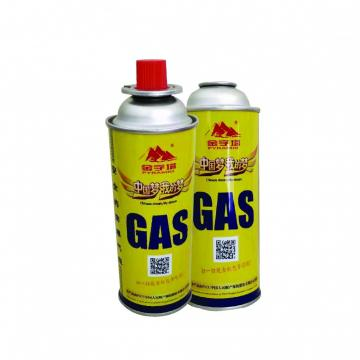 220G Nozzle Type Stainless steel material 220gr butane gas cylinder